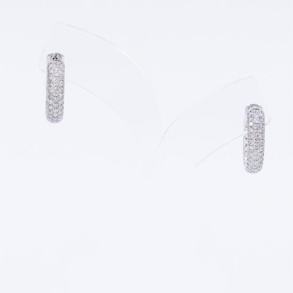 Diamond pave hoops