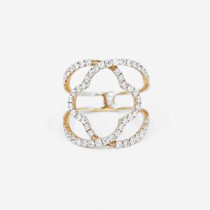 Negative Space Diamond Ring