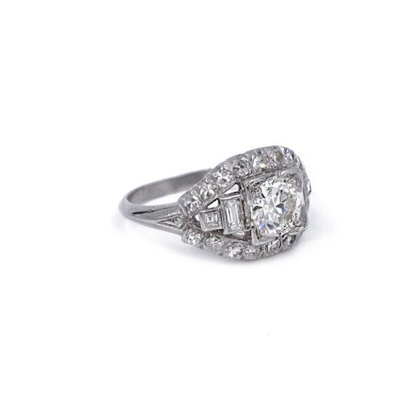 Vintage Platinum and Diamond Ring