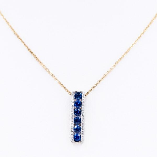 Diamond Sapphire Pendant