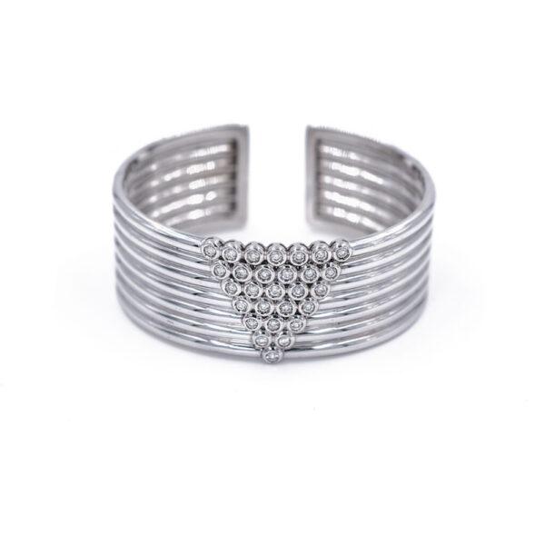 White Gold Cuff Bracelet