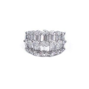 Baguette Marquise Diamond Band