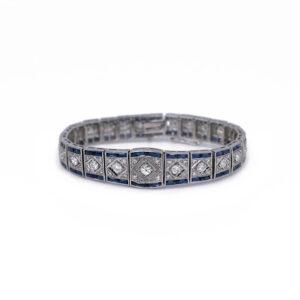 Diamond Sapphire Bracelet