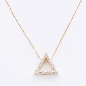Triangle Diamond Pendant